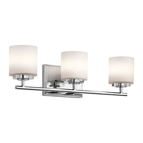 Kichler Vanity Light Shop Kichler O Hara 3 Light 6 25 In Chrome Cylinder Vanity Light At Lowes