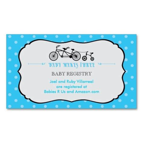 free baby shower registry card templates 1000 images about bicycle business cards on