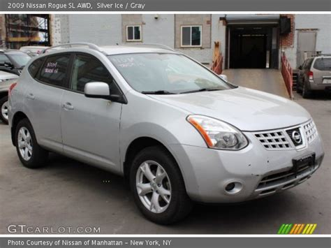 silver nissan rogue 2009 silver ice 2009 nissan rogue sl awd gray interior