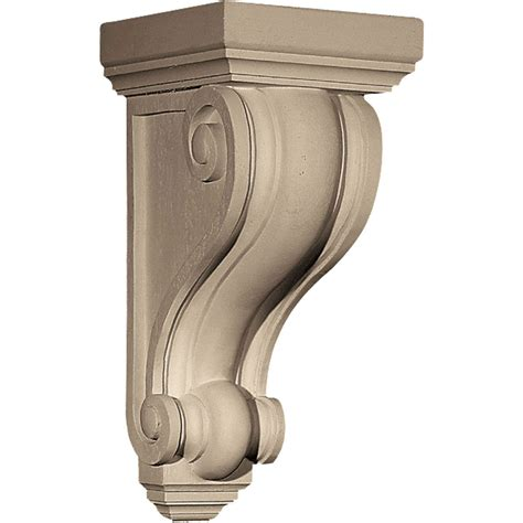 Plastic Corbels pearlworks cb 307 traditional with concave convex ridges resin corbel architecturaldepot