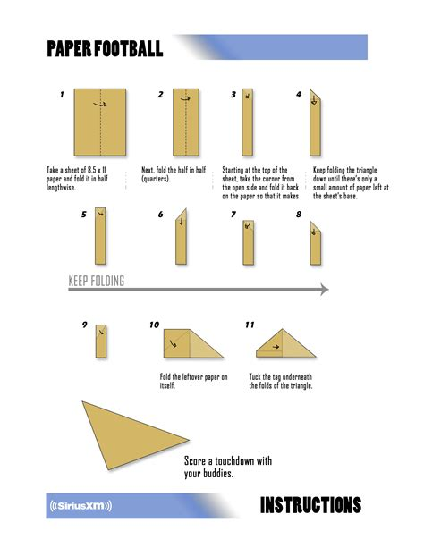 How To Fold A Paper Football - school for your bowl