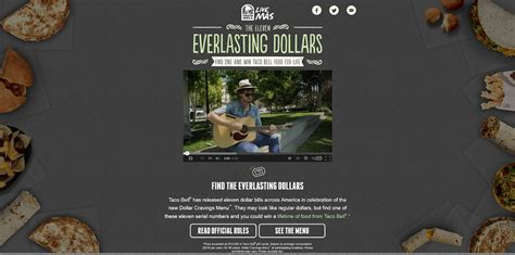 Taco Bell Sweepstakes - taco bell everlasting dollars promotion at everlastingdollars com find the