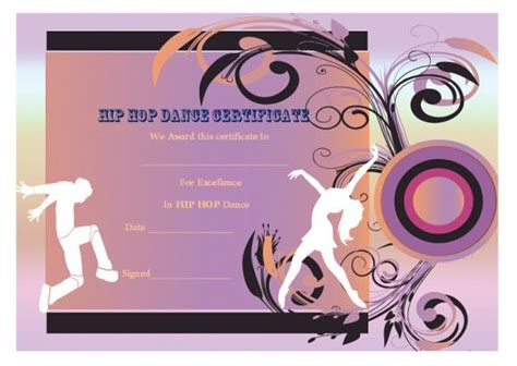 hip hop blogger templates dance certificate template 26 free certificates for
