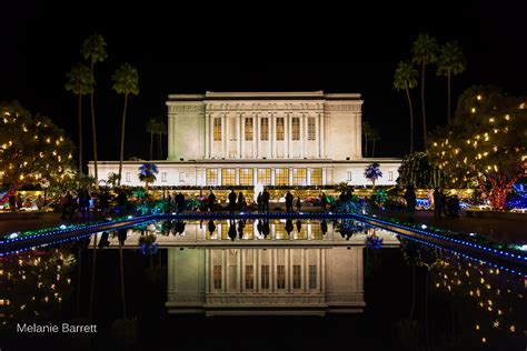 mesa arizona lds temple with christmas lights by melanie