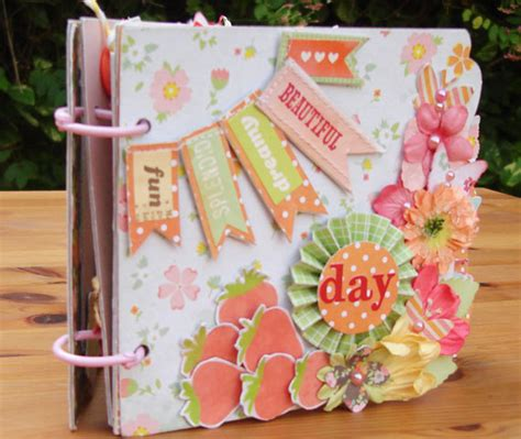 Handmade Paper Scrapbook - mini scrapbook album handmade mini album srapbook album
