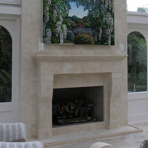 Provincial Fireplaces by Provincial Fireplace And Breast In Loggia Setting Set Into Aged Oamaru Wall