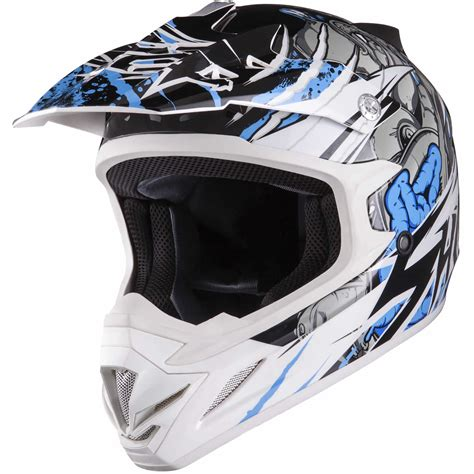 white motocross helmets shox mx 1 scream white blue motocross helmet enduro