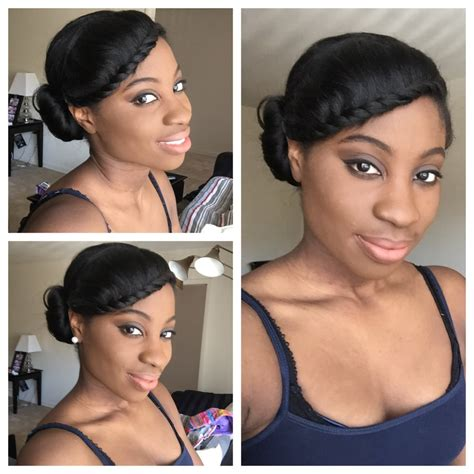 how to style relaxed african american hair simple protective style relaxed hair video relaxed