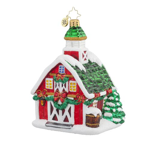 radko 1017866 country christmas decorated barn ornament