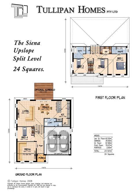 upslope house designs siena upslope split level home home design tullipan homes