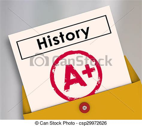 printable art history test history report card final grade test stock photo