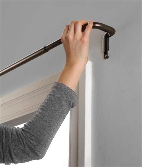 Umbra twilight room darkening curtain rod for window 48 to 88 inch matte nickel curtain store