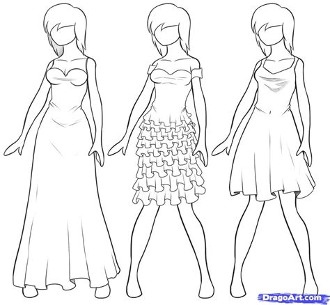 tutorial drawing online how to draw dresses step by step fashion pop culture