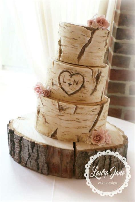 Hochzeitstorte Rustikal by Tree Trunk Rustic Wedding Cake Wedding Cake