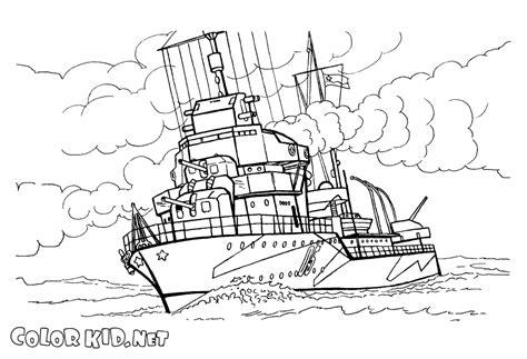 barco guerra dibujo dibujo para colorear buque de guerra