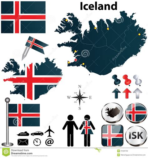 iceland map vector map of iceland stock vector image of sign boundary