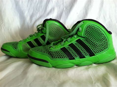 pre owned mens adidas shoes  greenblack basketball