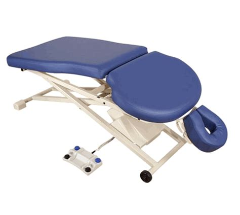 oakworks electric table oakworks proluxe pt400m electric therapy table