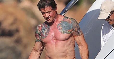 sylvester stallone bench press sylvester stallone workout routine and physique weight
