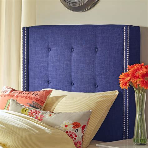 blue twin headboard homesullivan franklin park twilight blue twin headboard
