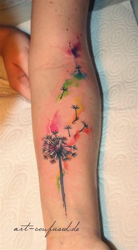 watercolor tattoos hip best 25 watercolor dandelion ideas on