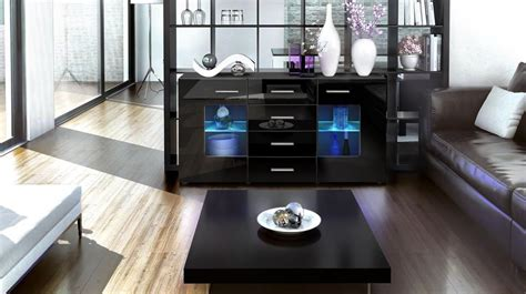 sideboard schwarz matt sideboard quot groemitz quot in black matt various colours