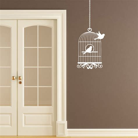 birdcage wall stickers vintage bird cage birdcage wall sticker bird flying from