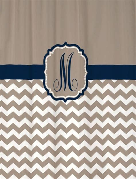 navy and tan shower curtain shower curtain taupe beige chevron with navy accents