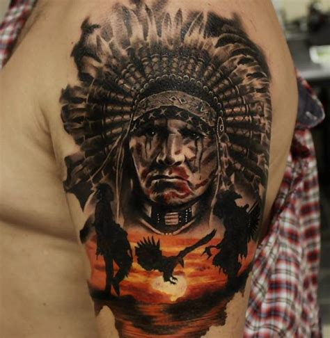 native american sleeve tattoo designs superb clock on arm sleeve by gary mossman
