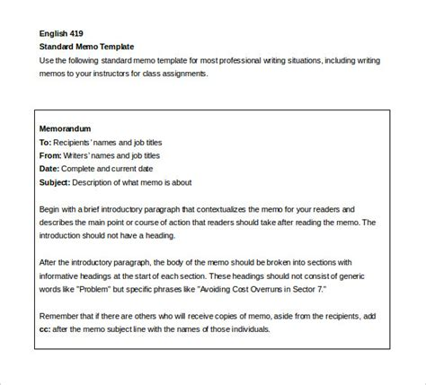 memo sections internal memo templates 15 free word pdf documents
