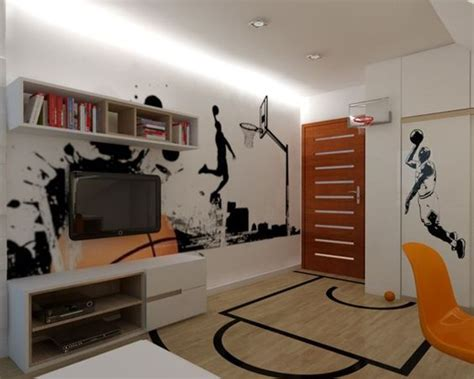 Basketball Room Ideas 17 inspirational ideas for decorating basketball themed room