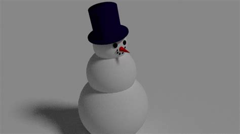 How To Make A 3d Snowman Out Of Paper - snowman 3d model blend