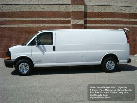 manual cars for sale 2008 chevrolet express 3500 parking system find used 2008 chevy express 3500 extended cargo van 1 owner fleet maintained carfax nice in