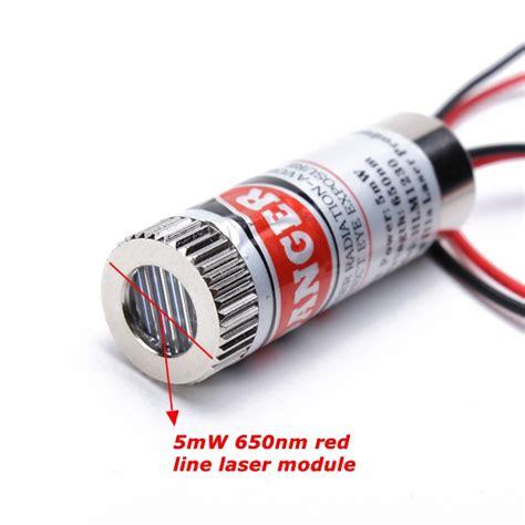 laser diode module line generator 650nm 5mw focusable line laser module laser generator diode alex nld
