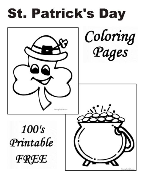 preschool coloring pages st patrick s day st patrick s day preschool coloring pages