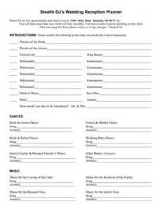 Wedding Music List Template Wedding Planner Worksheets Printable Abitlikethis