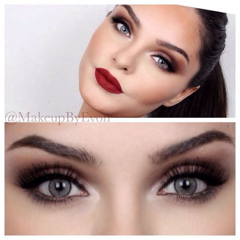 tutorial maquillaje kiss night out makeup tutorial burgundy lips brown smokey eyes