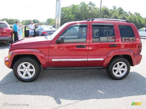 red jeep liberty 2005 inferno red crystal pearl 2005 jeep liberty limited