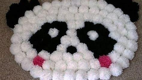 come si fa un tappeto tappeto pom pom panda come si fa tutorial