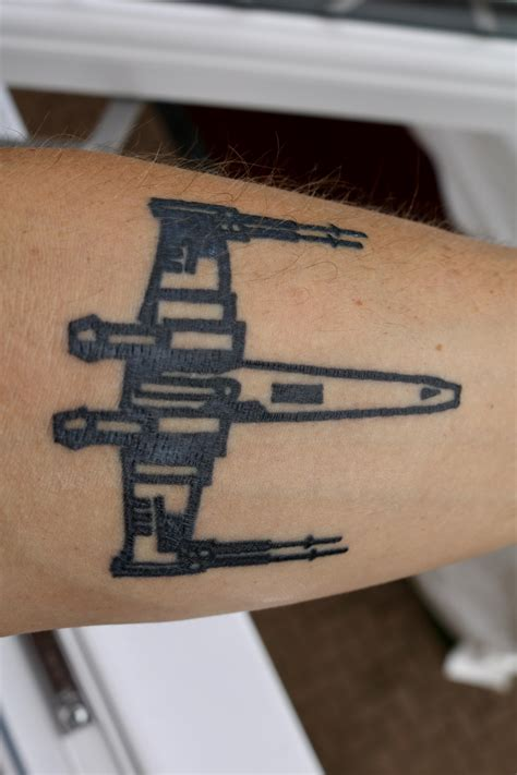 x wing tattoo starwars