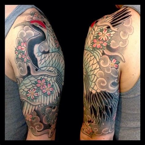 japanese crane tattoo japanese crane sleeve zoeken