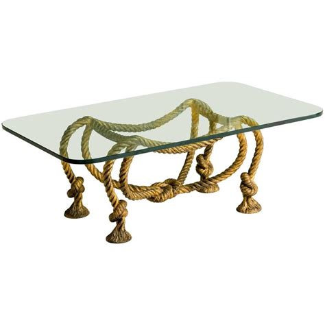 Rope Table L by Maison Jansen Style Rope Coffee Table For Sale At 1stdibs