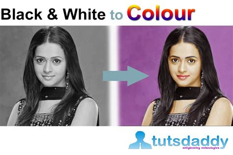 how to add color to a black and white photo converting black and white photo to colour photo