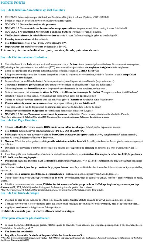 La Solution CIEL Associations Evolution 2012