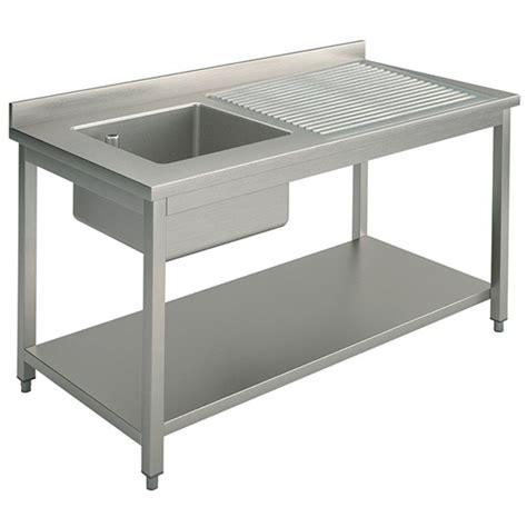 lavello industriale lavello 1 vasca a sinistra con gocciolatoio per cucine