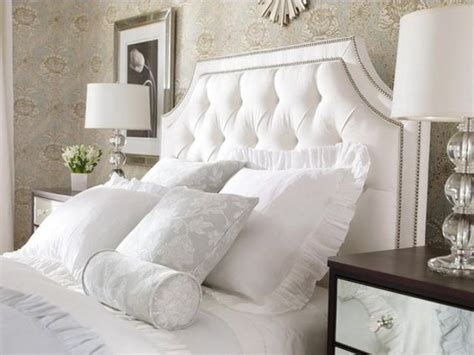 Tufted Headboard White by Picture Of Framed White Nailed Tufted Headboard