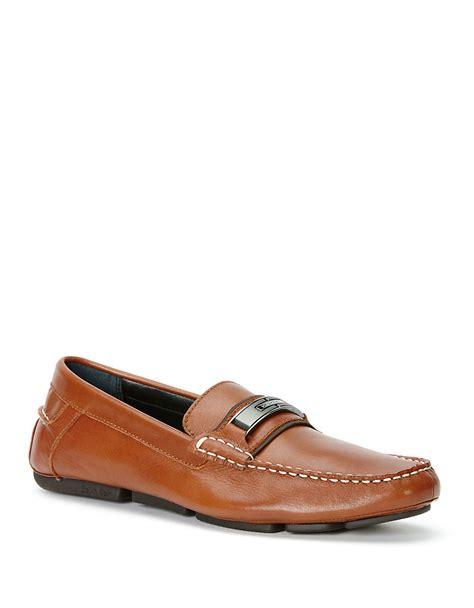 calvin klien loafers calvin klein mchale loafers in brown for lyst
