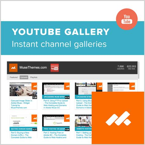 youtube themes gallery adobe muse youtube video gallery widget by musethemes