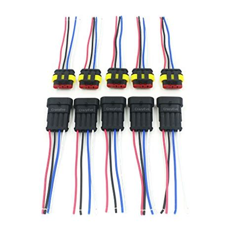 4 electrical wire crazyeve 5 sets 4 pin car waterproof electrical connector