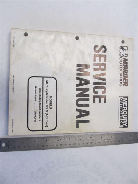 Mnl 8538 Mercury 9 8 Outboard Repair Manual 2019 Ebook